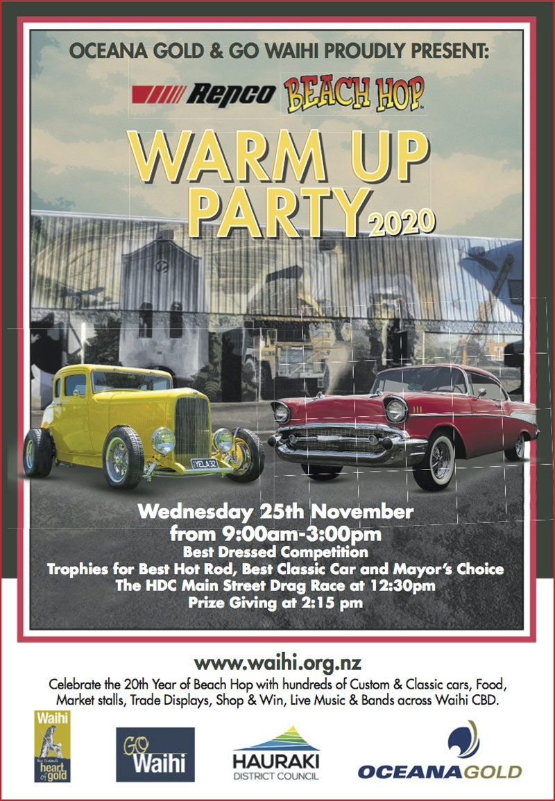 Waihi Warm Up Party – Beach Hop